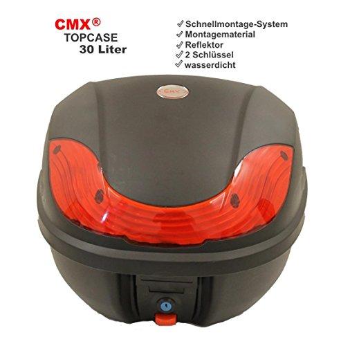 CMX® Motorradkoffer Rollerkoffer Top Case Topcase 30L schwarz