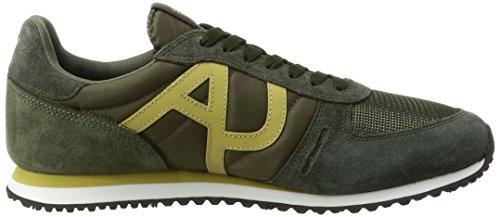 Green Armani Sneaker Herren Cut Jeans Grün Low 1812 8S8fHq