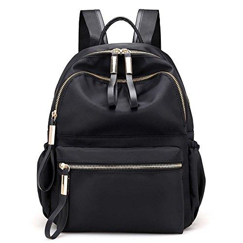 LiLiMeng Nylon Oxford Cloth Backpack Women Backpack College Wind Bag Leisure Bag Black ()