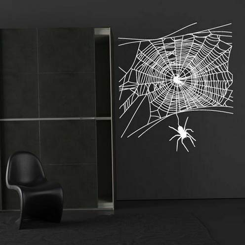 (Tomikko Wall Decal Sticker Decor Art Web Spider Insect Grid Trap Angle Bedroom M1400   Model DCR - 767)