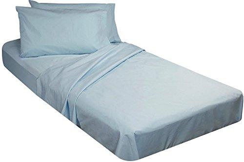 4 Piece Cot Sheet Set (Blue-) ()