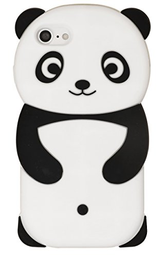 Diana Fay iPhone 8 Case, iPhone 7 Case, Cute Cartoon 3D Adorable Lovely Creative Panda Soft Silicone Gel Rubber Protective Cover Case for iPhone 8, iPhone 7 4.7