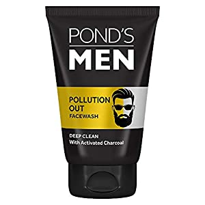 Pond's Men Pollution Out Activated Charcoal Deep Clean Facewash, 50 g