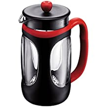 Bodum French Press - 8 Cup Young Press - Black And Red - 10096-364