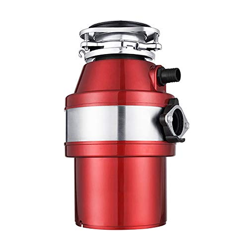 ZUEN Food Waste Disposer Garbage Feed Processor Disposal Crusher Kitchen Sink Equipment Power 370W,Red