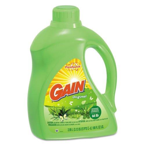 Gain 2X Ultra Concentrated Liquid Laundry Detergent, Original Scent, 100oz Bottle - four 100oz bottles.