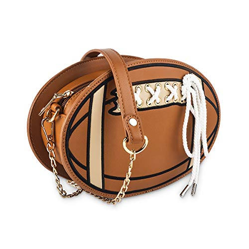 Football Purse - Cute Football Teenager Shoulder Bag, Ustyle Funny Women Crossbody Bag (brown)