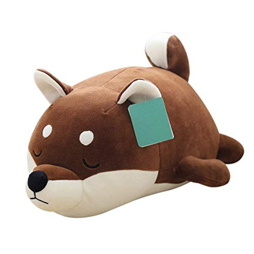 Molizhi Dog Soft Plush Pillow Cute Animal Stuffed Toy Gift for Halloween, Christmas,Brown 14