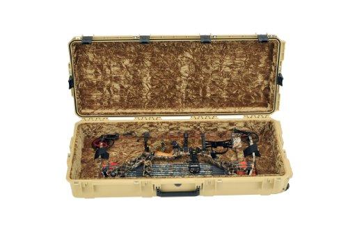 CVPKG Presents - SKB Desert Tan 3i-4217-PL-T-LL Parallel Limb Single Bow Case & 2 TSA Locking Latches with keys