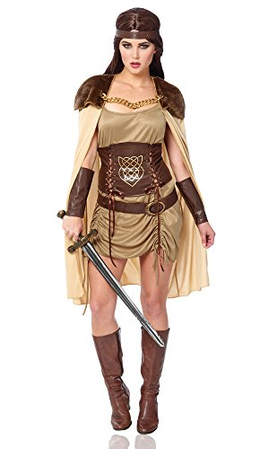 Costume Culture Women's Celtic Warrior Costume, Green, Medium