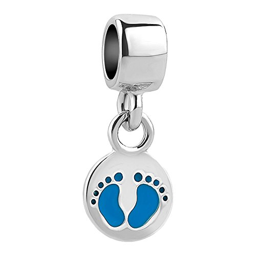 - QueenCharms Cute Handprints / Footprints Charm Beads For Charm Bracelets (Handprint)