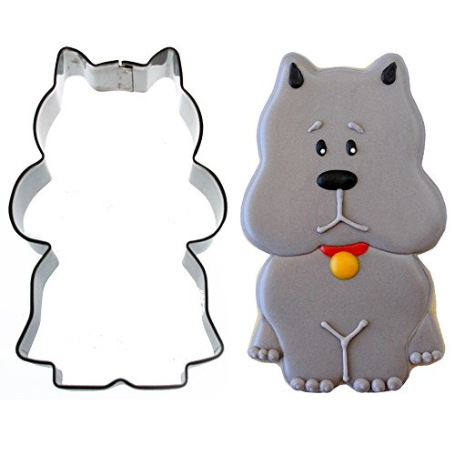 Sweet Elite Tools- Sitting Scottie Dog Stainless Steel Cookie Cutter By Sweet - Cookie Cutter Dog Scotty
