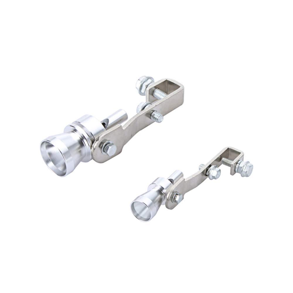 Rennwagen Docooler Turbo Sound Pfeife Auspuff Schalld/ämpfer Pfeife Auspuff Endrohr Ausblasventil Aluminium Silber f/ür Motorr/äder