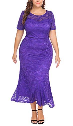 Involand Women Plus Size Plus Size Lace Dress