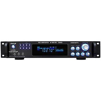4 Channel Bluetooth Power Amplifier - 1000W Home Audio Rack