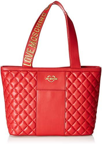 Love Nappa Rouge Borsa Moschino Cartables Pu Rosso Quilted trvrwqz