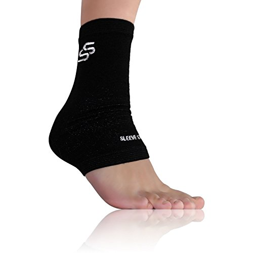 Sleeve Stars Plantar Fasciitis Foot Sleeve with Ankle Brace Strap (One Size)
