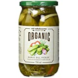 Eat Wholesome Organic Garlic Dill Pickles, 0.7500 L