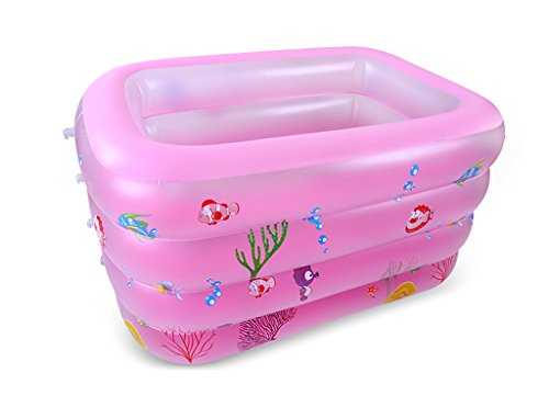 JPYG Inflatable Bathtub, Baby Swimming Pool Thickening Child Collapsible 0-12 Months Household Swimming Bucket Portable (Color : Pink, Size : 12510072cm) by JP bathtub