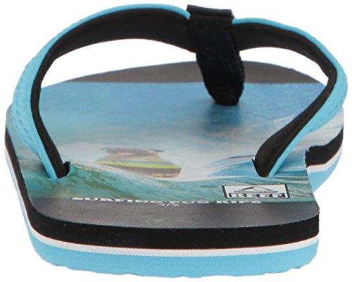 Large Product Image of Reef Boys' Grom Photos Sandal, Surfing Pug, 2-3 Medium US Little Kid