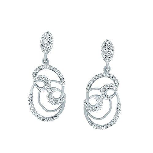 Giantti Diamant pour femme pendantes Boucles d'oreilles (0,45CT, VS Clarté, Gh-colour)