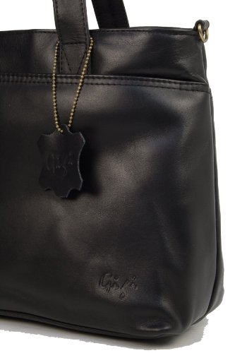 Sac signé Noir en cuir Gigi à main ISUIw