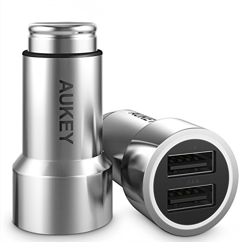 AUKEY Car Charger with Dual Port & 3.4A Output, Compatible with Samsung Galaxy S8/S8+ and More