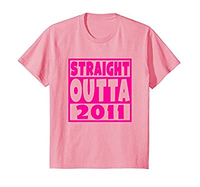 Straight Outta 2011 T-Shirt 7th Birthday For A 7 Year Old