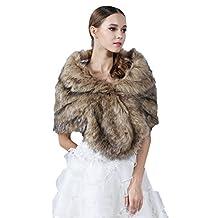 Women Faux Fur Shawls & Wraps, Premium Faux Fur Scraf, Fur Stole