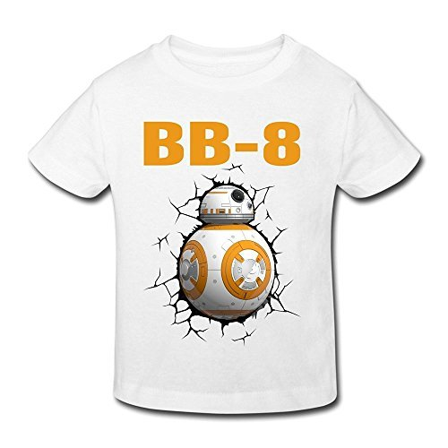 Price comparison product image Seico Stay Cute BB8 Robot T-shirt For Unisex Toddlers 5-6 Toddler White