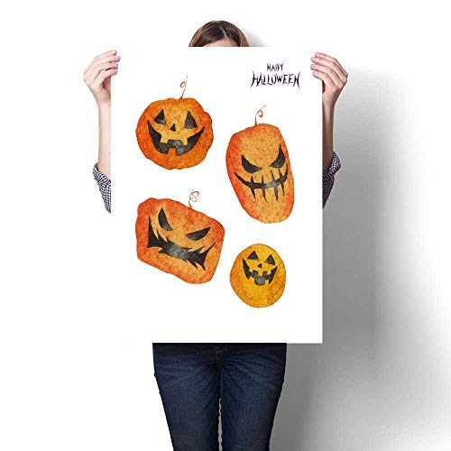 Anshesix Canvas Wall Art for Bedroom Home Decorations Halloween Pumpkin for Home Decoration No Frame 16