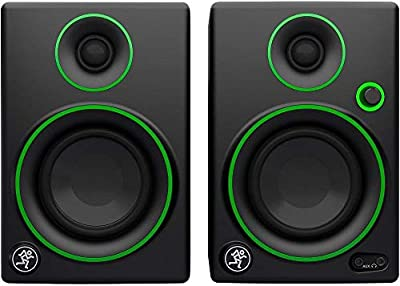 """Mackie CR3 3"""" Multimedia Monitors with Studio Headphones, Breakout Cable and Knox Gear Isolation Pads by Mackie"""
