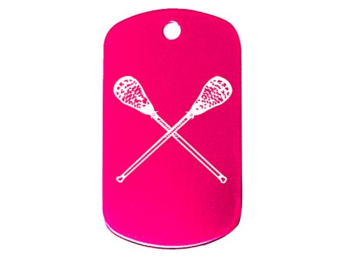 NDZ Performance Pink Dog Tag Only No Chain Lacrosse Sticks Crossed