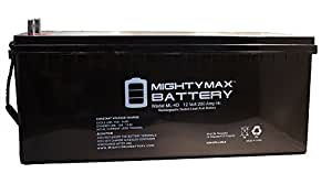 12v 200ah Solar Power Battery - Deep Cycle - Mighty Max Battery brand product