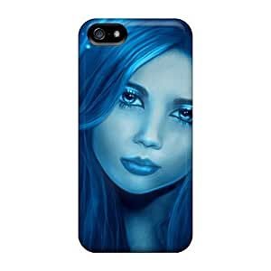 Anti-scratch And Shatterproof Blue Butterfly Fairy Phone Case For Iphone 4/4s High Quality Tpu Case