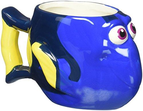 (Zak Designs DRYC-8510 Finding Dory Ceramic sculpted Mug, Multicolor)