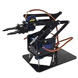Homyl Hot Smart Acrylic Robot DIY 4-Dof Tank Robotics Arm for Arduino 51 Learning Assembly Kits Educational Toy