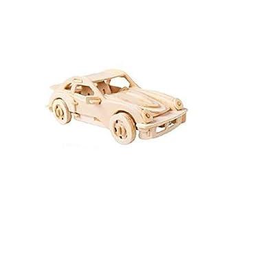 3D Puzzle in Wooden,Puzzle en Madera, Woodcraft Kit de Construcción-Coche, Car, Toy, Niño: Juguetes y juegos