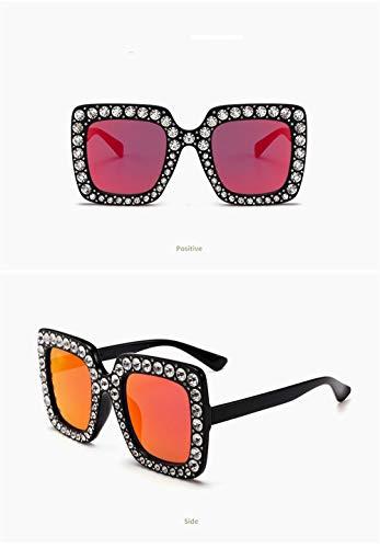 Ligero Hombre Retro Gafas Sol Mujer Gafas Polarizadas Cristal Rojo Espejo Vintage Gafas de UV400 Unisex Súper con para Sol Fliegend de Lente zwfqx6R