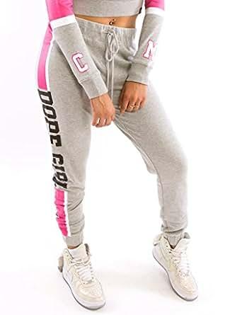 Cupcake Mafia Women's Dope Girl Sweatpants, Gray, X-Large
