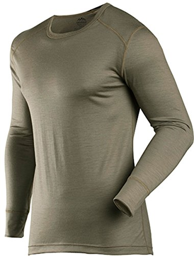 (ColdPruf Men's Classic Base Layer Long Sleeve Crew Neck Top, Commando, Large)
