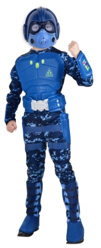 Rubie's Deluxe Blue Stealth Warrior Costume - Medium