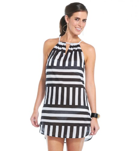 Mud Pie Rope Neck Cover Up Stripes