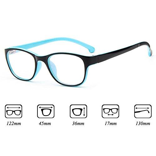 Filles Garçons Lunettes - Verres à lentilles transparentes Cadre Geek / Nerd Eyewear Lunettes avec boîtier en forme de voiture - hibote #112210 Noir Bleu