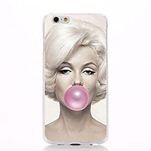 Marilyn Monroe Blowing Pink Bubble Pattern PC Hard Back Cover Case for iPhone 6