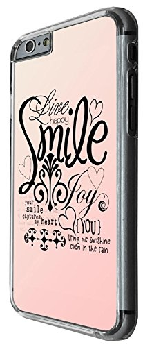 1345 - Cool Fun Trendy cute kwaii live happy smile pin inspiration illustration Design iphone 6 6S 4.7'' Coque Fashion Trend Case Coque Protection Cover plastique et métal - Clear