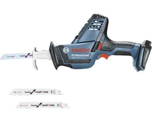 ohne Akku inkl Bosch Professional 06016A5004 S/äbels/äge Bosch GSA 18 V-Li C S/ägebl/ätter