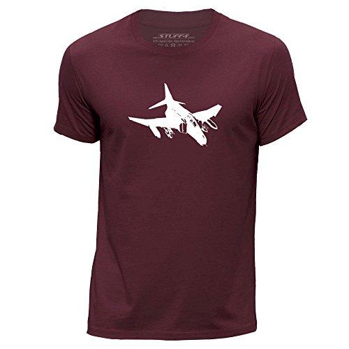 STUFF4 Uomo/X Grande (XL)/Borgogna/Girocollo T-Shirt/Jet da Combattimento/F-4 Phantom II