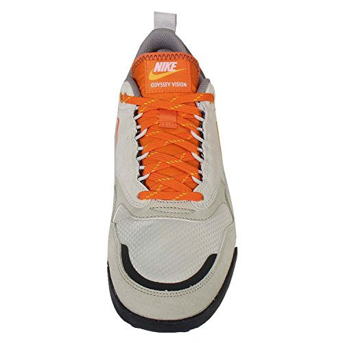 Nike Men's Air Odyssey Envision Qs Running Shoes, Lilac Multicolour - Blanco / Gris / Naranja (Lunar Grey/Cppr Flsh-lt Bs Gry)