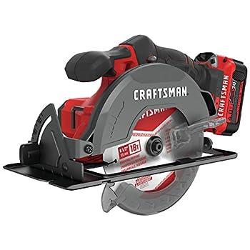 Image of CRAFTSMAN V20 6-1/2-Inch Cordless Circular Saw Kit (CMCS500M1) Home Improvements